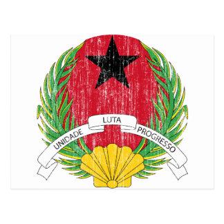 Guinea-Bissau Wappen Postkarte