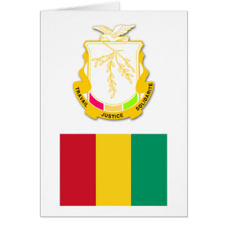 Guinea-Flagge GN Karte