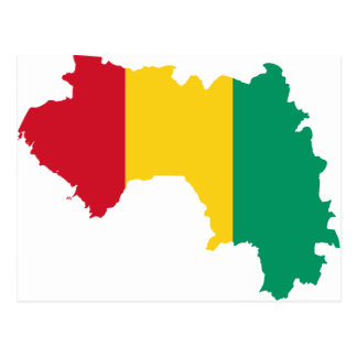 Guinea-Flaggen-Karte GN Postkarte