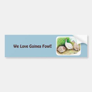 Guinea-Geflügel draußen Autoaufkleber