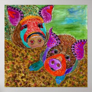 "Guinea Plakat des Schwein-12x12"" (kundengerecht)"