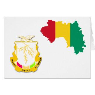 Guinea-Wappen GN Karte