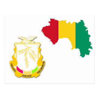 Guinea-Wappen GN Postkarte