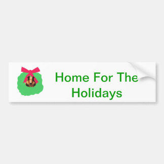 Guirlande de Noël de vacances de colley Autocollant De Voiture