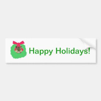 Guirlande de Noël de vacances de puma Autocollant De Voiture