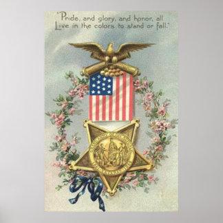 Guirlande d'Eagle de médaille de guerre civile des