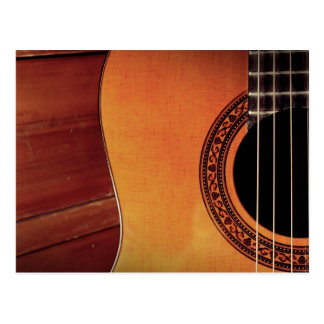 Guitare acoustique carte postale