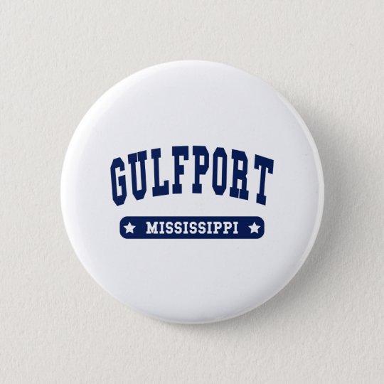 Gulfport Mississippi Uni-Artt-shirts Runder Button 5,7 Cm