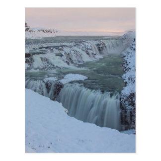 Gullfoss Wasserfall in Island Postkarte