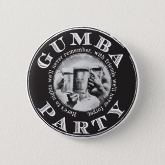 Gumba Party-Button-Rückseiten-Knopf mit schwarzem Runder Button 5,1 Cm