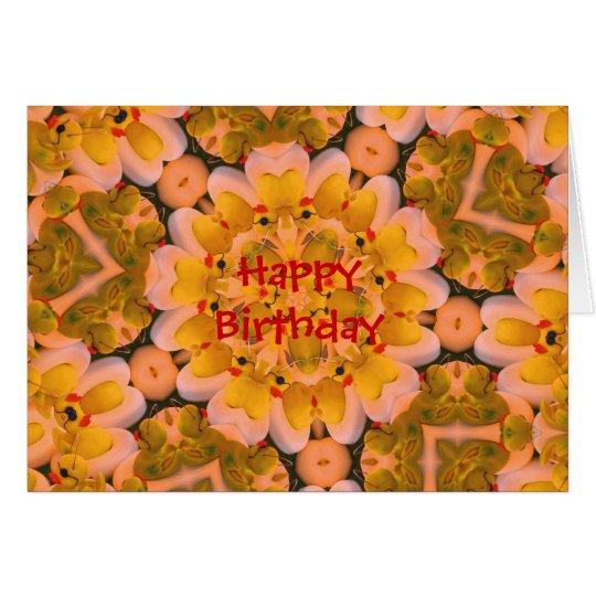 Gummi duckt Kaleidoskop-Kunst-Geburtstags-Karte Grußkarte