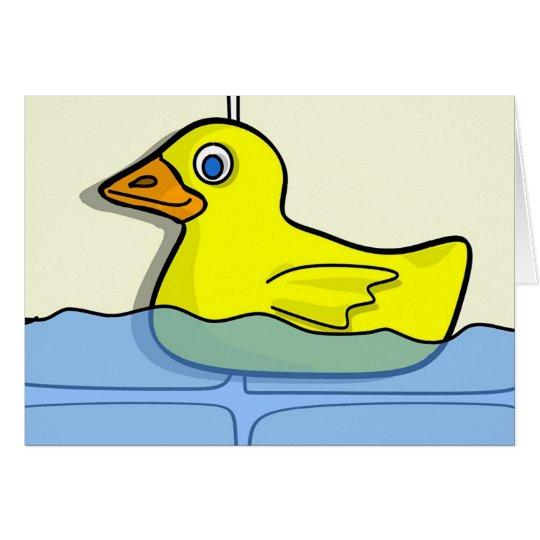 Gummi Ducky Grußkarte