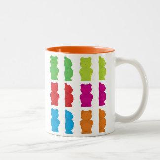 Gummiartige Bären Zweifarbige Tasse