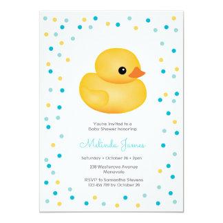 GummiDuckie blauer Jungen-Babyparty-Einladung Karte