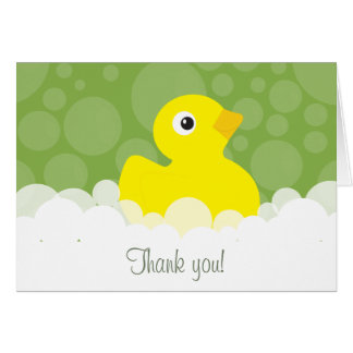 Gummiducky danken Ihnen, - Grün zu merken Mitteilungskarte