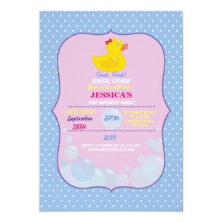 Gummienten-laden Ducky Blasen-Geburtstags-Party 12,7 X 17,8 Cm Einladungskarte