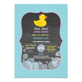 Gummienten-laden Ducky Blasen-Geburtstags-Party Karte