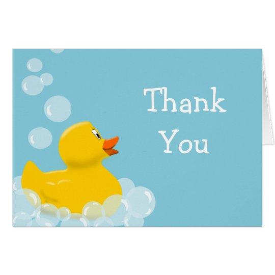 Gummienten-und Blasen-Babyparty danken Ihnen Mitteilungskarte
