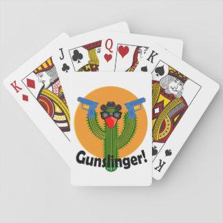 Gunslinger Cactus Design -Playing Cards, Standard