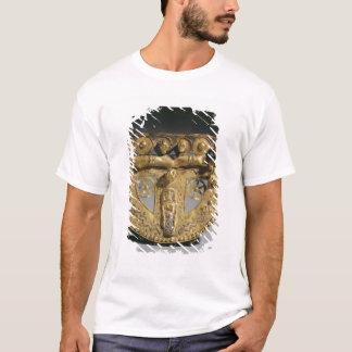 Gurt-Schnalle mit granulierter Dekoration, T-Shirt