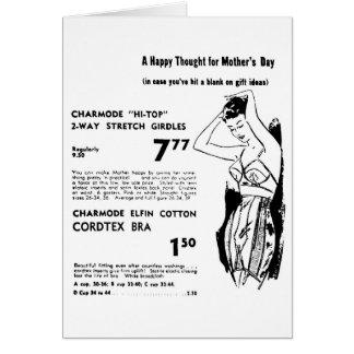 Gürtel-Karte 1955 Mutter Tages Karte