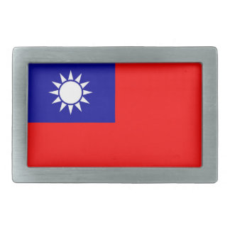 Gürtelschnalle mit Flagge von Taiwan