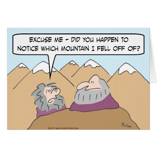 Guru fiel weg vom Berg Grußkarte