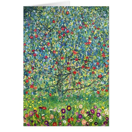 Gustav Klimt: Apfelbaum Grußkarte