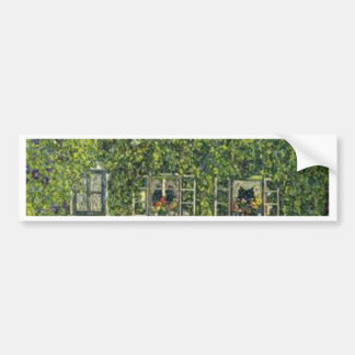 Gustav Klimt - das Haus von Guardaboschi Autoaufkleber