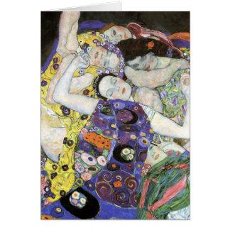 Gustav Klimt - das Jungfrau-Öl Karte
