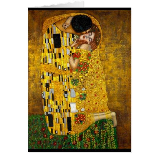 Gustav Klimt - der Kuss Grußkarte