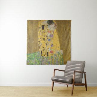 Gustav Klimt der Kuss (Liebhaber) GalleryHD Vintag Wandteppich