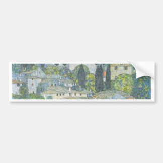 Gustav Klimt - Kirche in Cassone Kunstwerk Autoaufkleber
