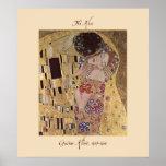 Gustav Klimt la copie 1907-08 d'affiche de baiser
