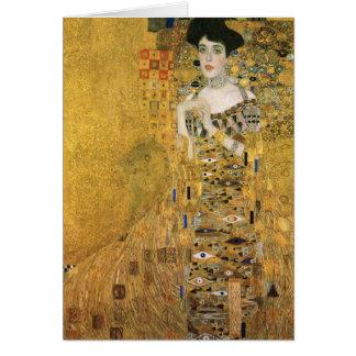 Gustav Klimt - Porträt von Adele-Block Bauer Karte