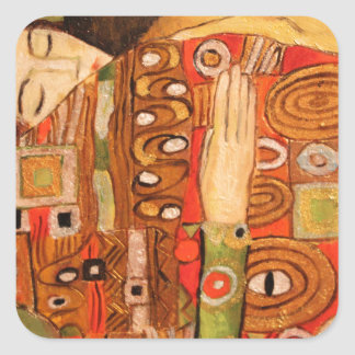 Gustav Klimt Quadratischer Aufkleber