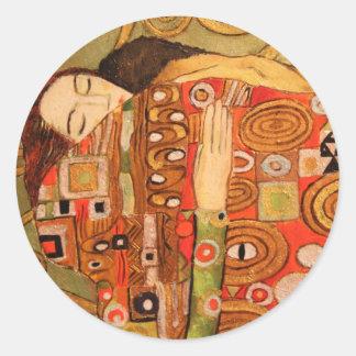 Gustav Klimt Runder Aufkleber