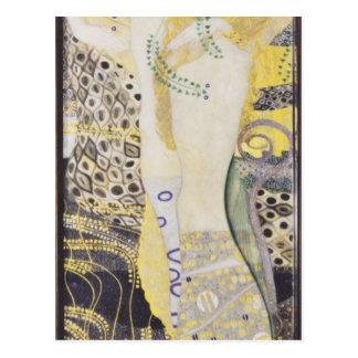 Gustav Klimt- Watersnakes Postkarte