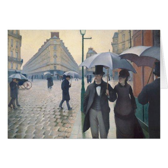 Gustave Caillebotte- Paris, ein regnerischer Tag Karte