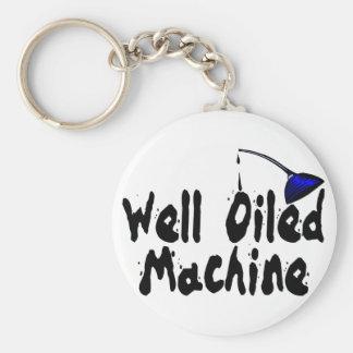 Gut geölte Maschine Schlüsselanhänger