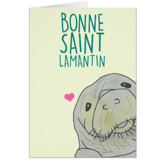 Gut Heilige Lamantin Grußkarte