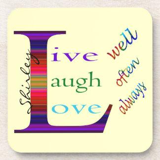 Gut, lebt Lachen häufig, Liebe immer durch STaylor Untersetzer