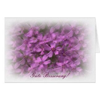 Gute Besserung MIT Rosa Blumen Grußkarte