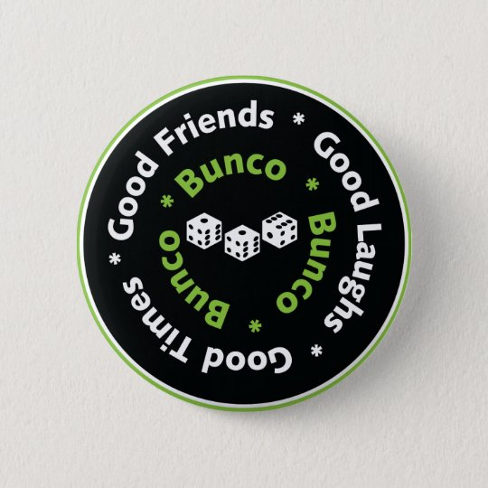 gute Freunde bunco Würfel Runder Button 5,7 Cm