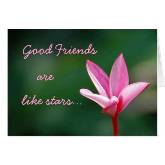 Gute Freunde sind wie Stern-Karte Grußkarte