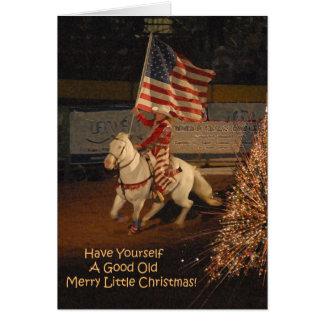 Gute fröhliche kleine Weihnachtskarte Karte