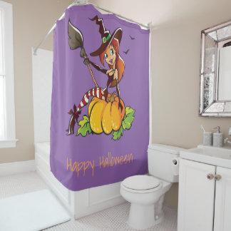 Gute Hexe glückliches Halloween Duschvorhang