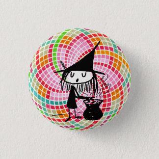 gute Hexe mit heiligem Geometrieknopf Runder Button 3,2 Cm