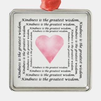 Güte-Klugheits-Herz-Verzierung Silbernes Ornament