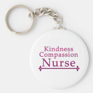 Güte-Mitleid-Krankenschwester Standard Runder Schlüsselanhänger